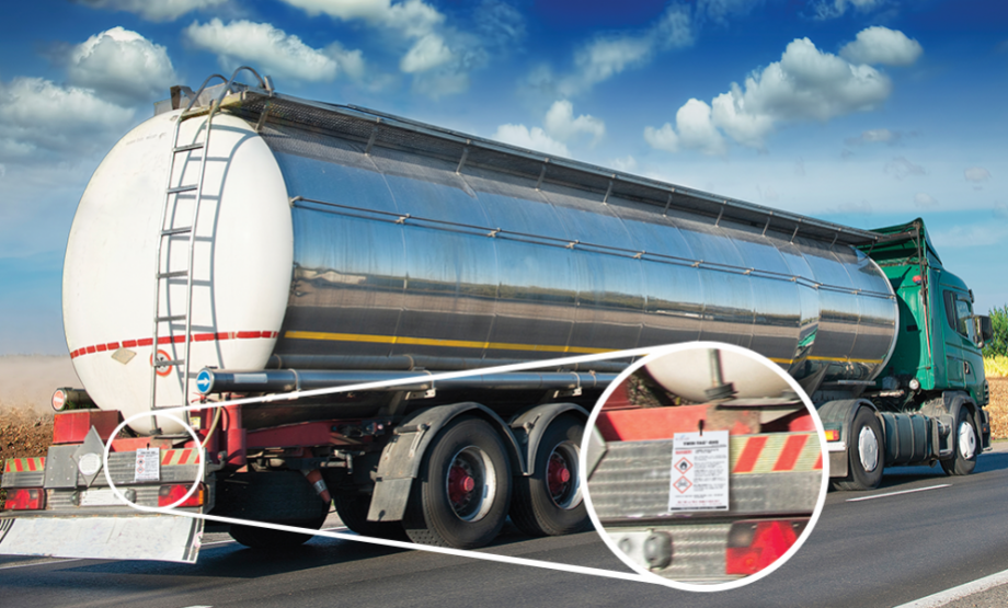 Twin-Tag on tanker truck image